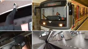 Šílenec hazarduje se životem v pražském metru: Zvenku se chytil vagonu a takhle jel přes tři stanice