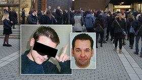 Pohřeb první oběti šíleného střelce Vitáska: Zabil našeho Oskara, ať se smaží v pekle