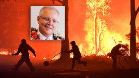 Kde je premiér, když ho země potřebuje? Austrálii ničí plameny, šéf vlády si užívá