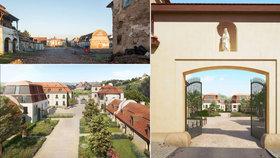 Ruiny budov ze 17. století v Troji: Rozebrali je na cihlu a zrekonstruovali, vzniklo v nich luxusní bydlení