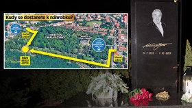Policejní manévry kolem hrobu Karla Gotta (†80): Jak se k němu dostat?