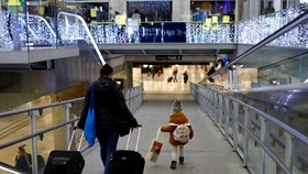 Protesty neskončí ani o Vánocích: Ve Francii jezdí jen zlomek vlaků, metro v Paříži stojí