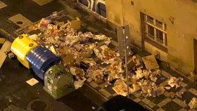 Bohaté a popelnicové! Záplava odpadků v ulicích Prahy, kontejnery nestačí!