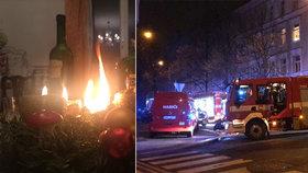 Štědrodenní šichta pražských hasičů: Vyjížděli k 25 případům, jen jeden byl ryze vánoční