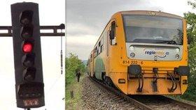 Na červenou letos projelo přes 140 vlaků. Inspekce: Nepozornost strojvedoucích