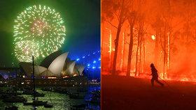 Velkolepý ohňostroj v Sydney nebude? Lidé i hasiči chtějí peníze radši na boj s požáry