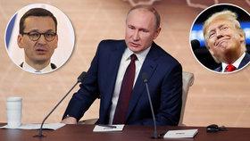 Putin děkoval Trumpovi za odvrácení teroru, od Poláků to schytal za Hitlera