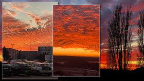 Fascinující konec roku! Nebe nad Českem zalila ohnivá barva, co ji způsobilo?