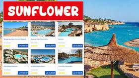Cestovka láká Čechy do Egypta, tam je na černé listině. Jak se Sunflower brání?