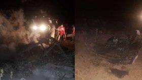 Antonov se zřítil k zemi. Mezi 18 obětmi pádu letadla jsou čtyři děti i tři soudci