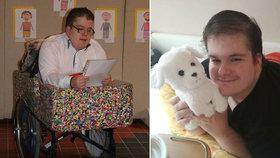 Míra (†31) z Chomutova strávil celý život na břiše: Nového vozíku se už nedočkal