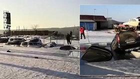 Rybaření na ledu skončilo katastrofou: Obleva poslala ke dnu desítky aut!