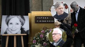 Zemanovi rivalové se loučili s Fischerovou: Drahoš, Franz a Dienstbier se poklonili Táně