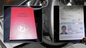 Polské vízum, ukrajinský řidičák a uzbecký pas! Muž (24) si hrál v Praze na taxikáře, o povolení neměl páru