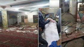 Výbuch bomby v mešitě: 9 mrtvých, zemřel i policejní důstojník v Pákistánu