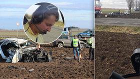 Pilot Tomáš letěl náhodou kolem drsné nehody u Vrbčan: Ti chlapi měli pořádný štěstí, prohlásil
