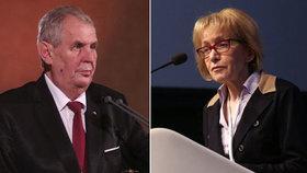 Babiš Válkovou jako ombudsmanku nechce. Zeman pro Blesk v neděli řekne, jestli ji podrží