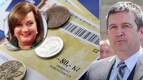 Vládní hádka o rušení stravenky: Hamáček jde proti plánu Schillerové