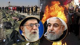 """Íránský """"Černobyl""""? Lži kolem sestřelení letadla můžou položit režim, tvrdí historik"""