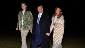 První syn se zase vytáhl! Barron Trump (14) je čahoun, už přerostl i prezidenta