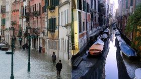Benátky zasáhla další pohroma. Po velkých záplavách jsou teď gondoly v bahně na suchu