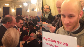 """Michálek se pustil do občana: """"Jdi se oběsit,"""" křičel na něj dav na zastupitelstvu Prahy 1"""