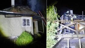 Obří požár u Prahy: Chatu zapálili schválně?! Škoda šplhá k milionu