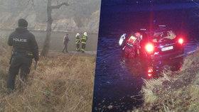 Záchranná akce ve Vraném nad Vltavou: Vážně zraněný řidič skončil v řece!