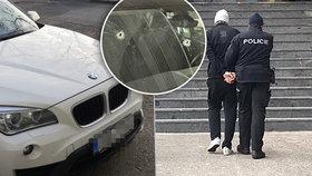 Pokus o vraždu několika lidí! Řidič BMW, který střílel po autě, trefil i cisternu, hrozí mu doživotí
