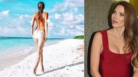 Sexy Verešová provokuje dál: Písek jí vlezl i mezi dokonalé půlky!