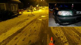 Sáňkař vjel v Krkonoších pod auto: Těžce se zranil!