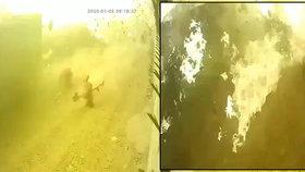 Děsivé záběry zkázy: Kamery zachytily, jak se letadlo se 176 lidmi roztříštilo na kousky