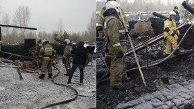 Při požáru domu zemřelo jedenáct lidí! Dřevěná stavba přitom vůbec nebyla určena k bydlení!