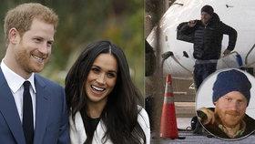 V letadle zničený, po přistání vysmátý! Co způsobilo Harryho náhlou změnu nálady?