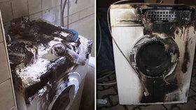 Pračky explodovaly a vyhořely kvůli nim celé domy. Lidé dělají základní chyby