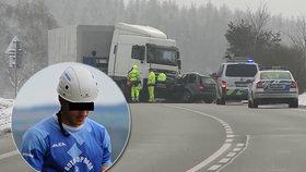Hasič Fanda (†19) zahynul při střetu s kamionem: Zdrcení blízcí plánují poslední sbohem
