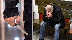 """Vyskočil z křoví a se slovy """"zabiju tě"""" přiložil muži nůž na krk. Skončil ve vazbě"""
