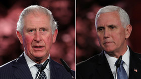 Princ Charles potupil viceprezidenta USA. V Izraeli se zdravil se všemi, jeho minul