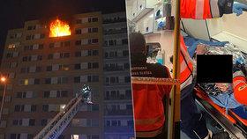 Noční požár bytu v Kladně zabil ženu: Popálený muž vyběhl ven! 14 zraněných, stovky evakuovaných