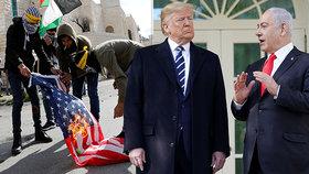 """""""Výsměch a kampaň."""" Trump to schytává i od Čechů za plán pro Palestinu a Izrael"""