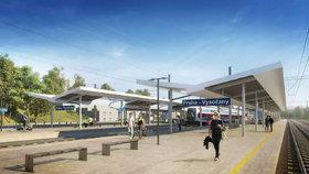 O 618 milionů víc: Oprava trati z Vysočan do Mstětic včetně nového nádraží vyjde na 4,2 miliardy
