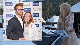Tereza Voříšková natáčí pohádku O vánoční hvězdě: Miminko o pauzách kojí!