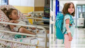 V Motole transplantovali srdce 8měsíčnímu miminku: Adélka (5) si nosila náhradní v batohu