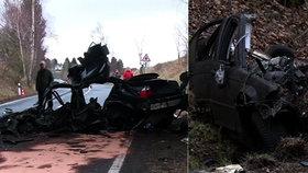Tragédie na Chebsku: Mladíci (†23 a †26) rozpůlili auto o pilíř, prý se řítili 200 km/h