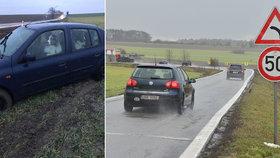 Zákeřná zatáčka u Jiřic na Nymbursku. Podivná nehoda na přehledném úseku: Za volantem byl pes!