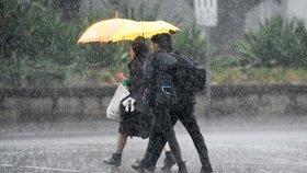 V Česku vydatně prší, sledujte radar Blesku. Na Šumavě hrozí povodně
