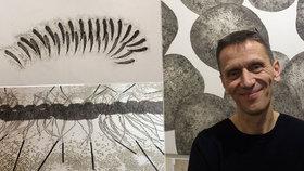 """""""Grafika není přežitek,"""" říká výtvarník Šimon Brejcha. Galerii Hollar """"vytapetoval"""" svými výtvory"""