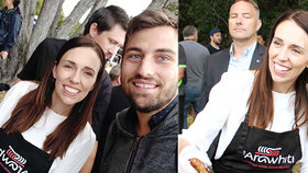 """Čech Petr (23) """"ulovil"""" novozélandskou premiérku. Jacinda v zástěře sytila národ"""