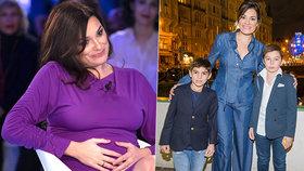 Alena Šeredová o třetím těhotenství: Synům ho oznámila zvláštním způsobem!