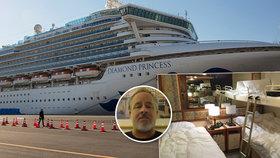"""""""Je to jako být uvězněný v koupelně."""" Karanténa na luxusní lodi uvěznila 3700 pasažérů"""